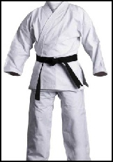 White student karate suit cotton